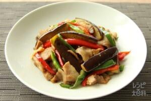 豚肉と彩り夏野菜のあごだし炒め