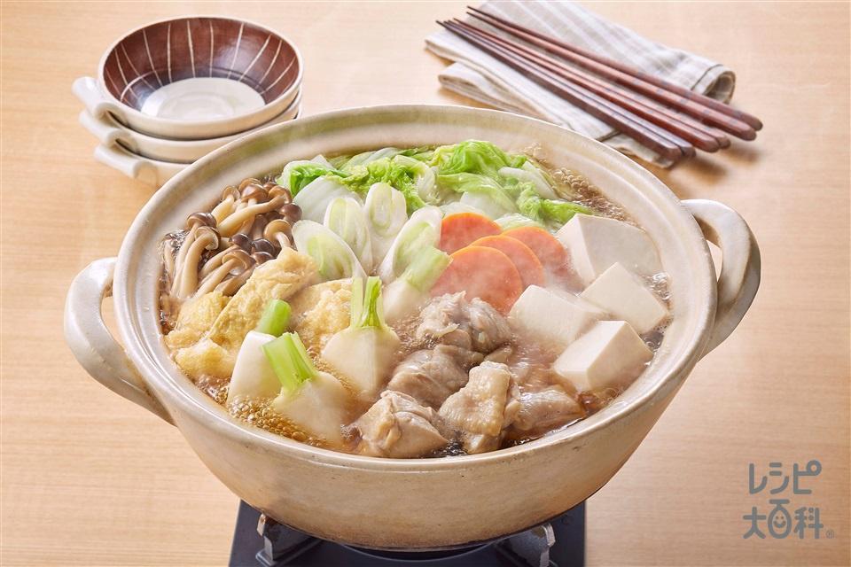 あごだし鍋(鶏もも肉+絹ごし豆腐を使ったレシピ)