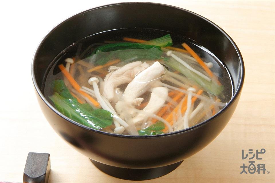 根菜と鶏肉の沢煮椀