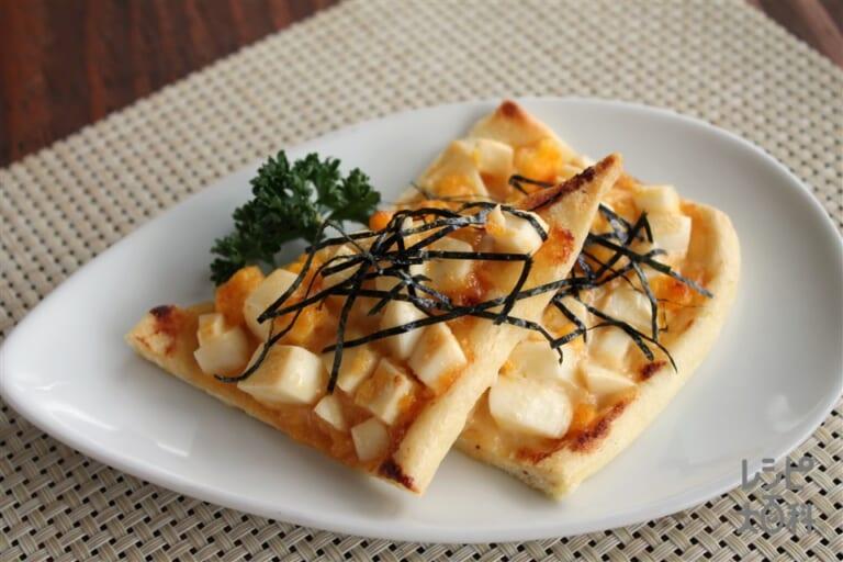 油揚げの味噌マヨエッグトースト風