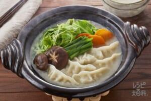 濃厚白湯ギョーザ鍋