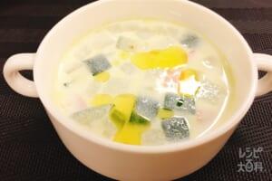 和の冷製枝豆スープ
