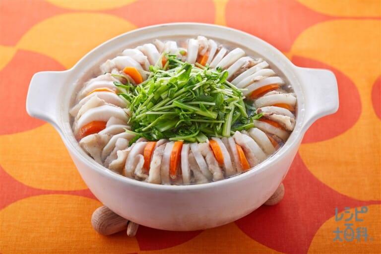 豚バラと大根の重ね鍋(1日分の野菜)