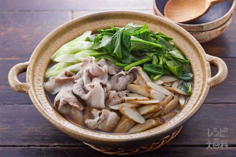たっぷりほうれん草の常夜鍋(1日分の野菜)