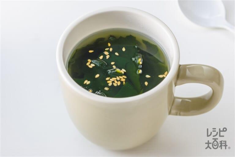 マグカップわかめスープ