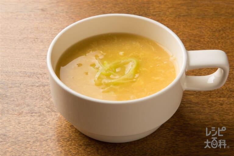 しっとりささみの中華風コーンスープ