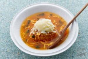 とろ~りチーズのチゲ風スープかけ焼きおにぎり