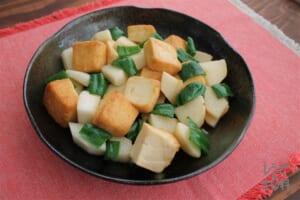 厚揚げと長芋のとろ照り焼き