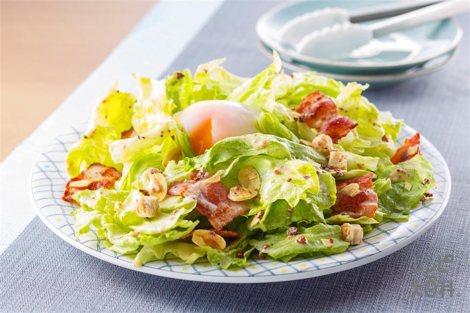 「Toss Sala」チーズ香るシーザーサラダ(ベーコン+レタスを使ったレシピ)