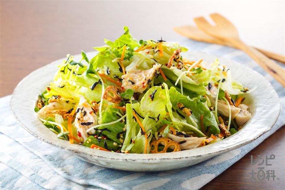 「Toss Sala」サラダチキンとレタスの京風ゆずサラダ