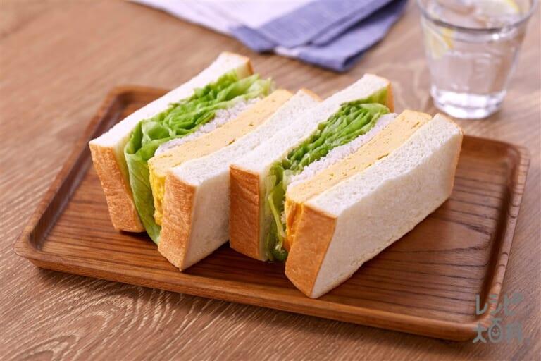 レタスたっぷりふわ卵かにサンドイッチ
