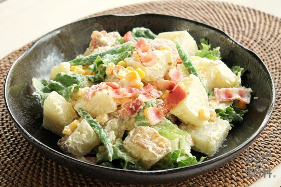 香ばしベーコンと新じゃがのサラダ(新じゃがいも+ベーコンスライスを使ったレシピ)
