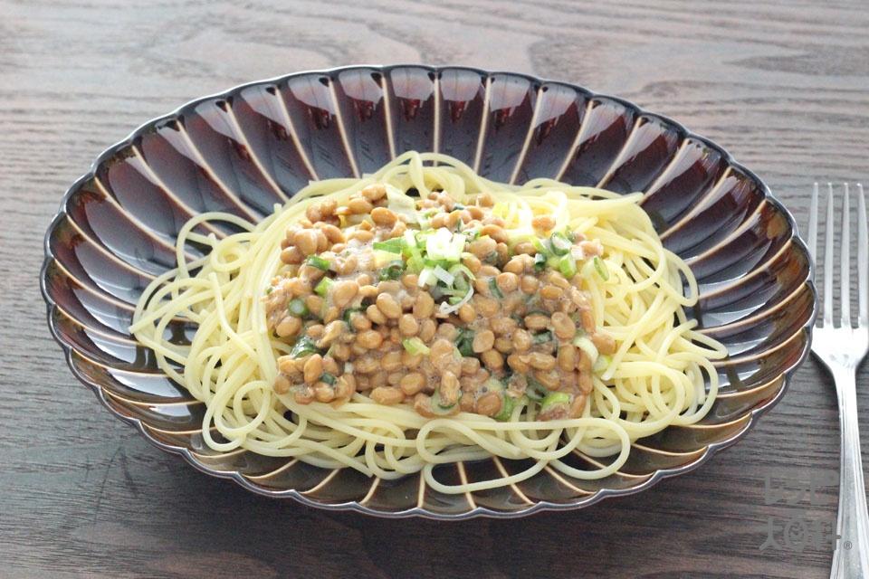 納豆パスタ(スパゲッティ+納豆を使ったレシピ)