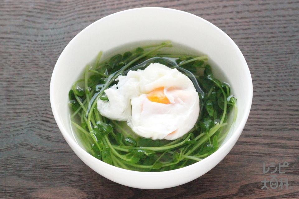 ポトたま 豆苗スープ(豆苗+卵を使ったレシピ)