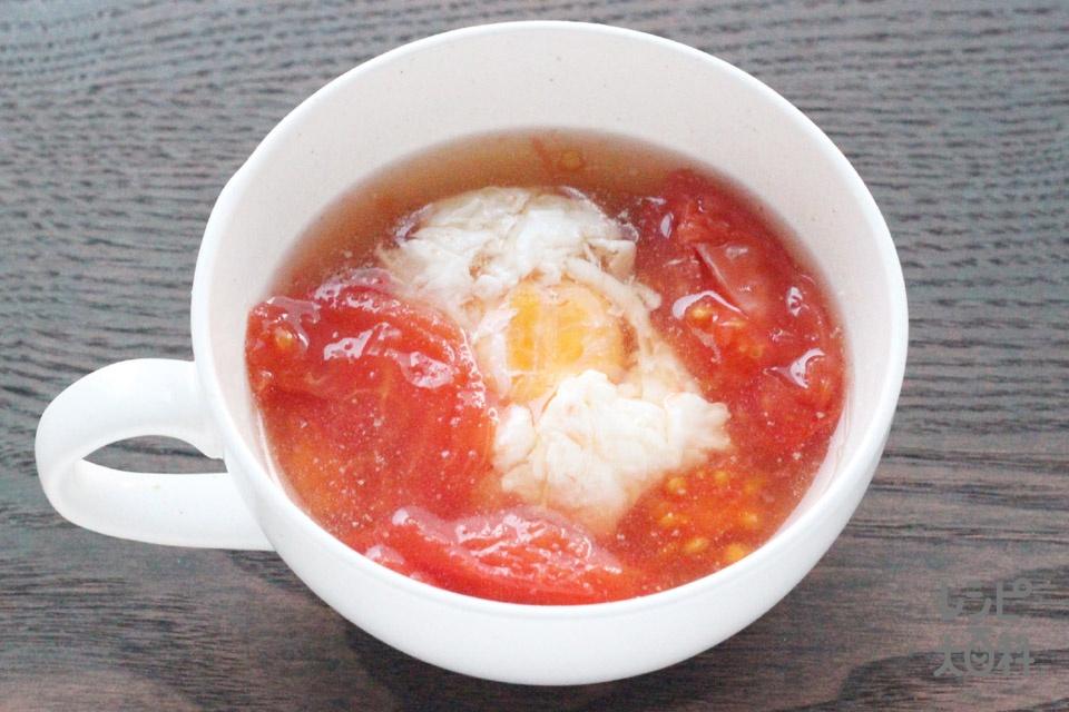 ポトたま トマトのスープ(トマト+卵を使ったレシピ)