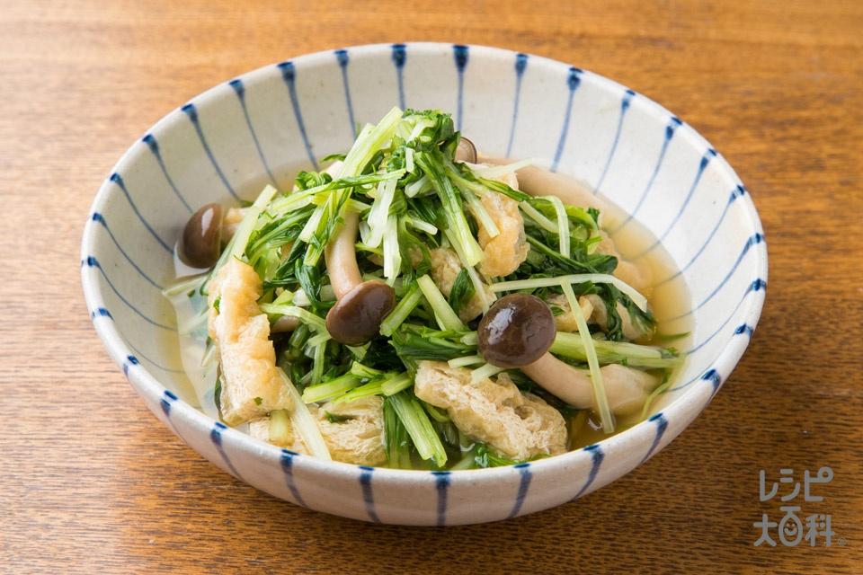 シャキシャキ水菜の煮びたし(水菜を使ったレシピ)