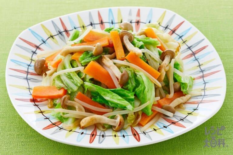 レンジで作る!うま塩「野菜炒めず」