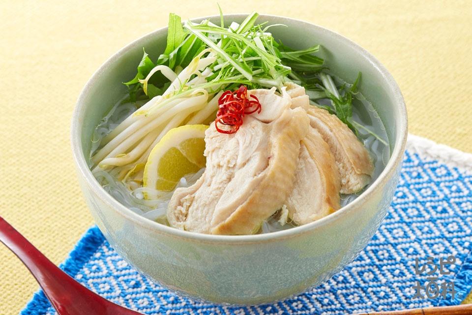 白滝のフォー風 うま塩仕立て(鶏もも肉+しらたきを使ったレシピ)