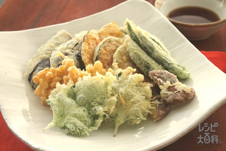 マヨネーズでサクサク天ぷら(しいたけ+オクラを使ったレシピ)