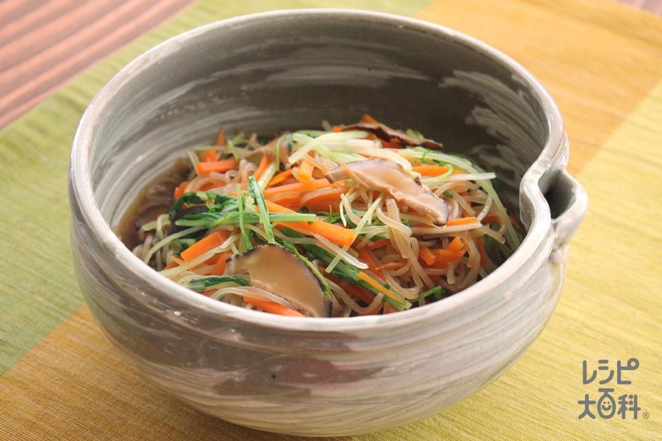 山形のおひたし・ひやしる(水菜+糸こんにゃくを使ったレシピ)