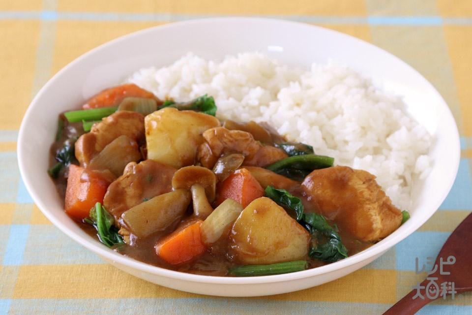 チキンとゴロゴロ野菜のカレーライス(鶏むね肉+じゃがいもを使ったレシピ)