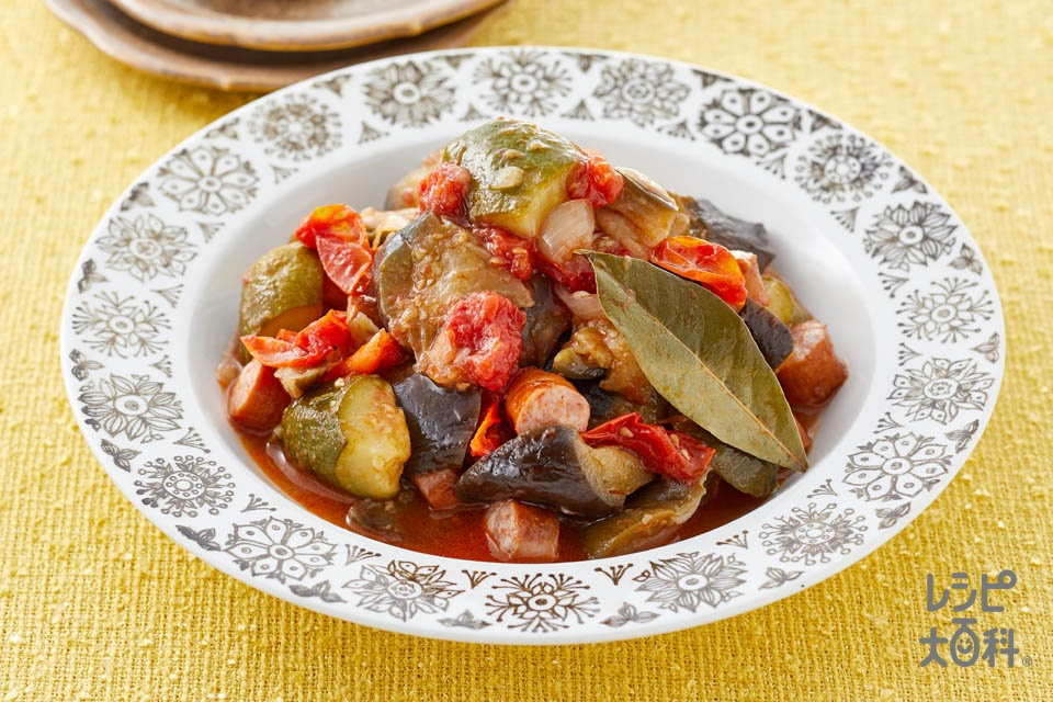レンジで作る!夏野菜のラタトゥイユ(なす+ズッキーニを使ったレシピ)