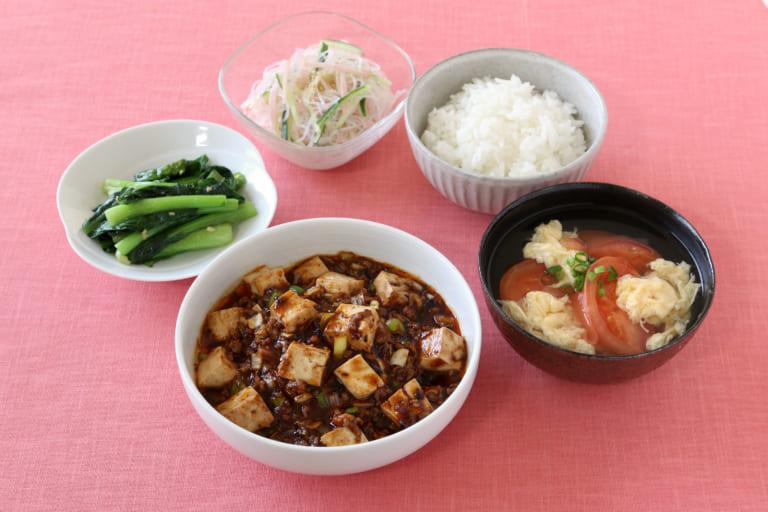 <夕食>四川式麻婆豆腐献立