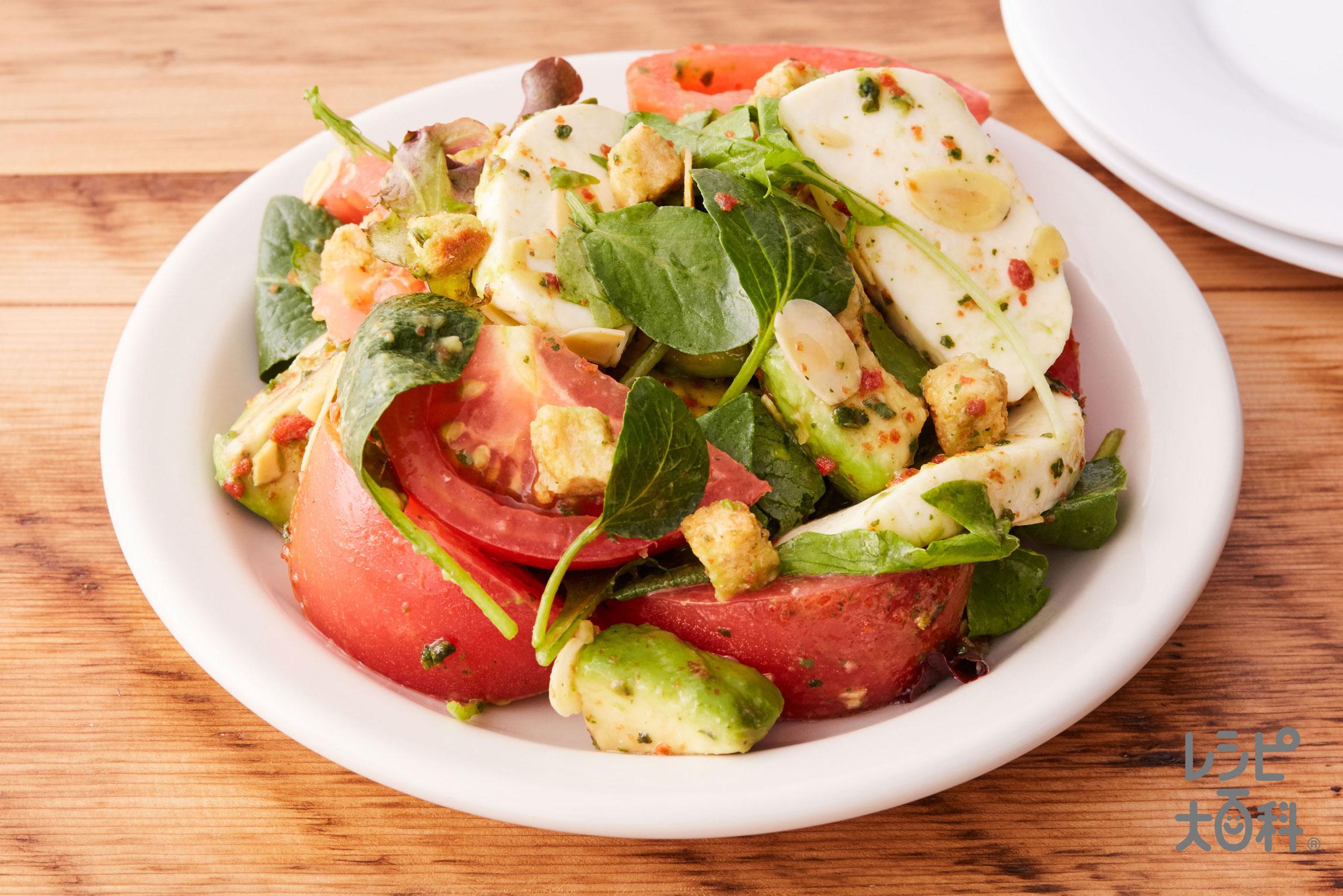 トマトとモッツァレラのイタリアントスサラダ
