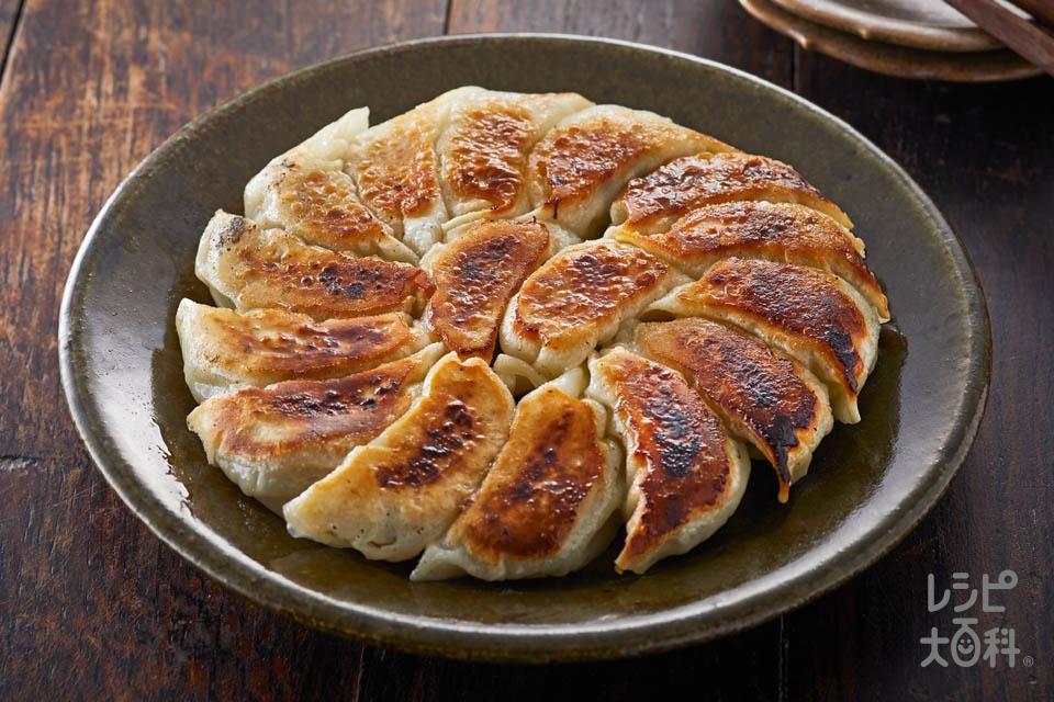 ガツンと香味餃子(豚ひき肉+キャベツを使ったレシピ)