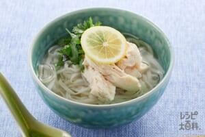 糖質0g麺のアジアンチキンヌードル風