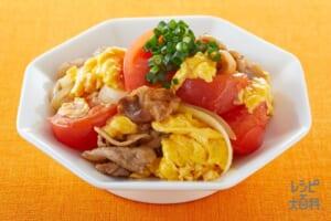 豚肉とトマトの玉子炒め