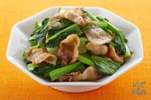 豚肉と青菜の中華炒め