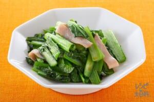 青菜とハムの炒め物