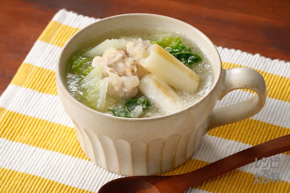 香ばし長ねぎと大根みぞれスープ(大根+白菜を使ったレシピ)