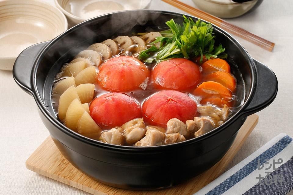 大根トマトの和風鍋(鶏もも肉+大根を使ったレシピ)