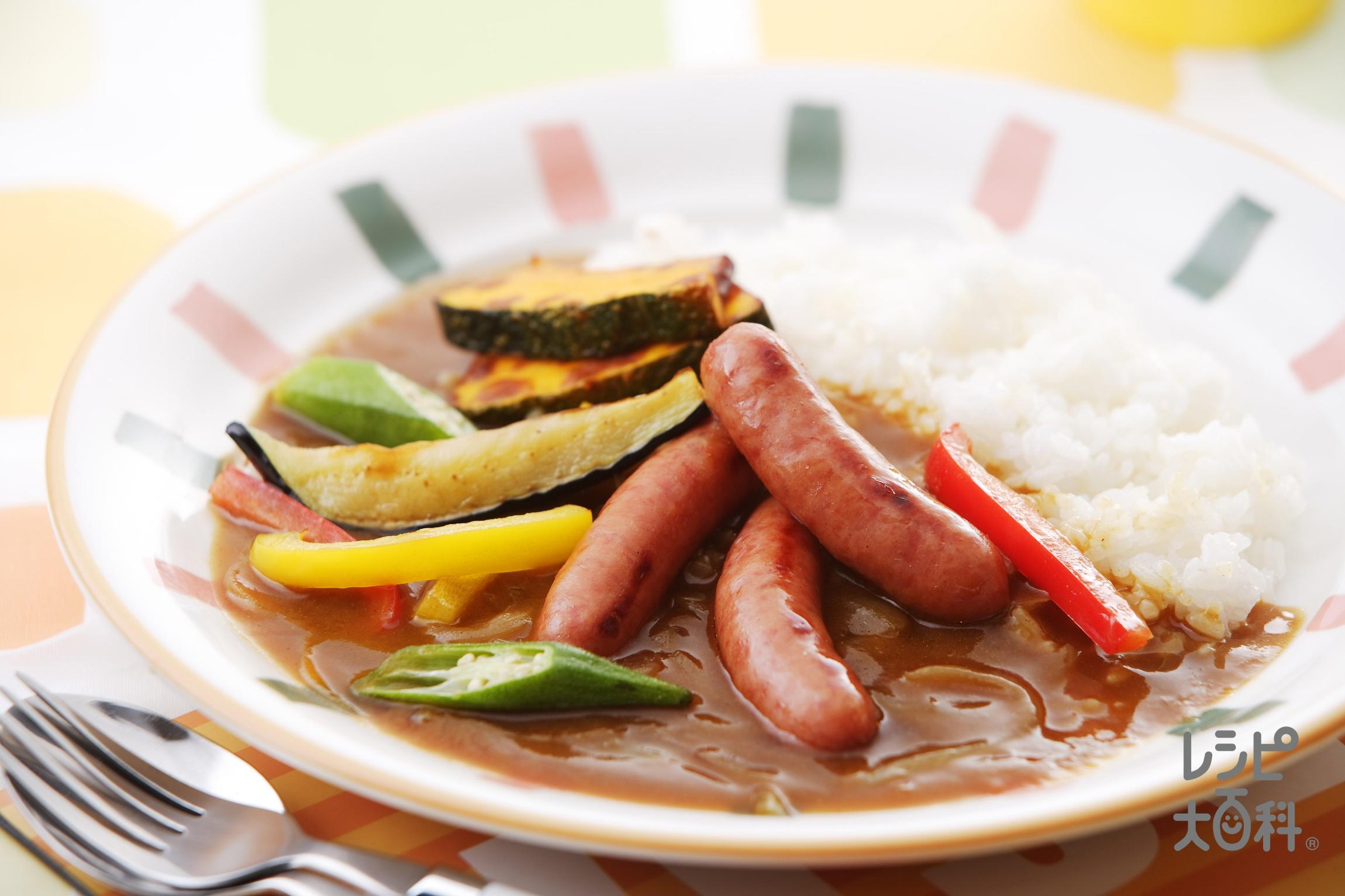 料理の基本が学べる!ウィンナーと夏野菜のカラフルカレー