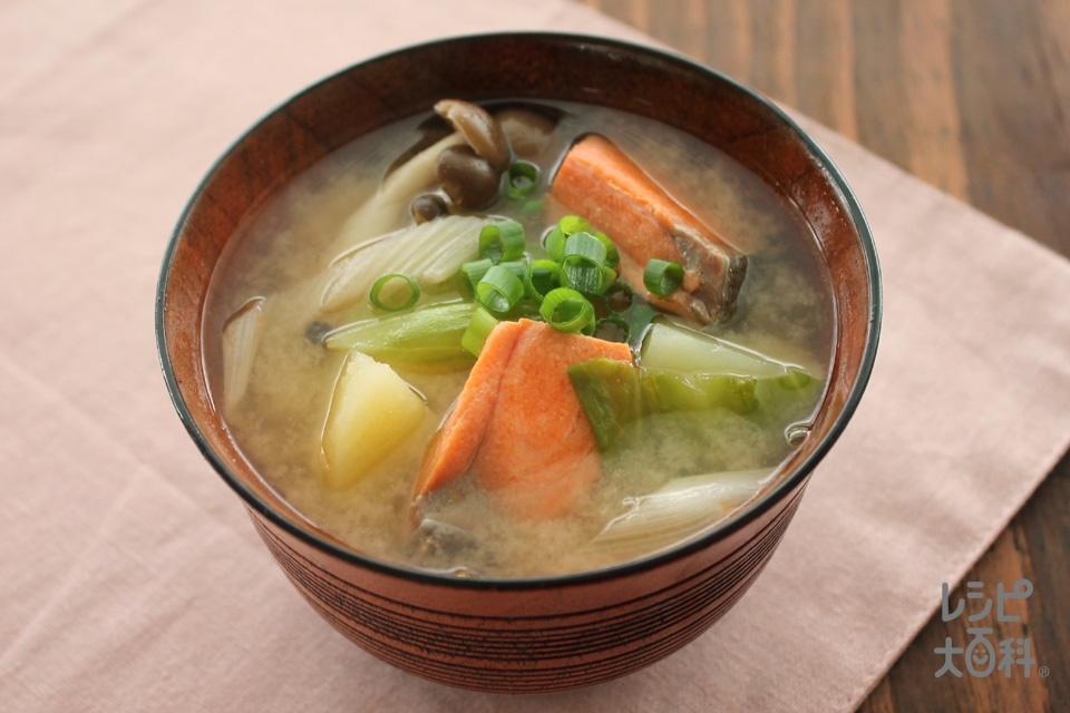 鮭のちゃんちゃんみそ汁(さけ+じゃがいもを使ったレシピ)