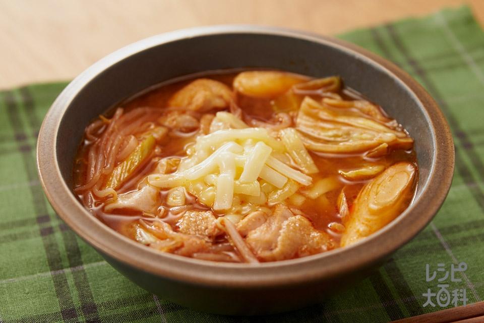 とろーりチーズタッカルビ風スープ