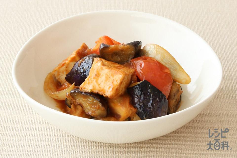 厚揚げのラタトゥイユ風(厚揚げ+トマトを使ったレシピ)