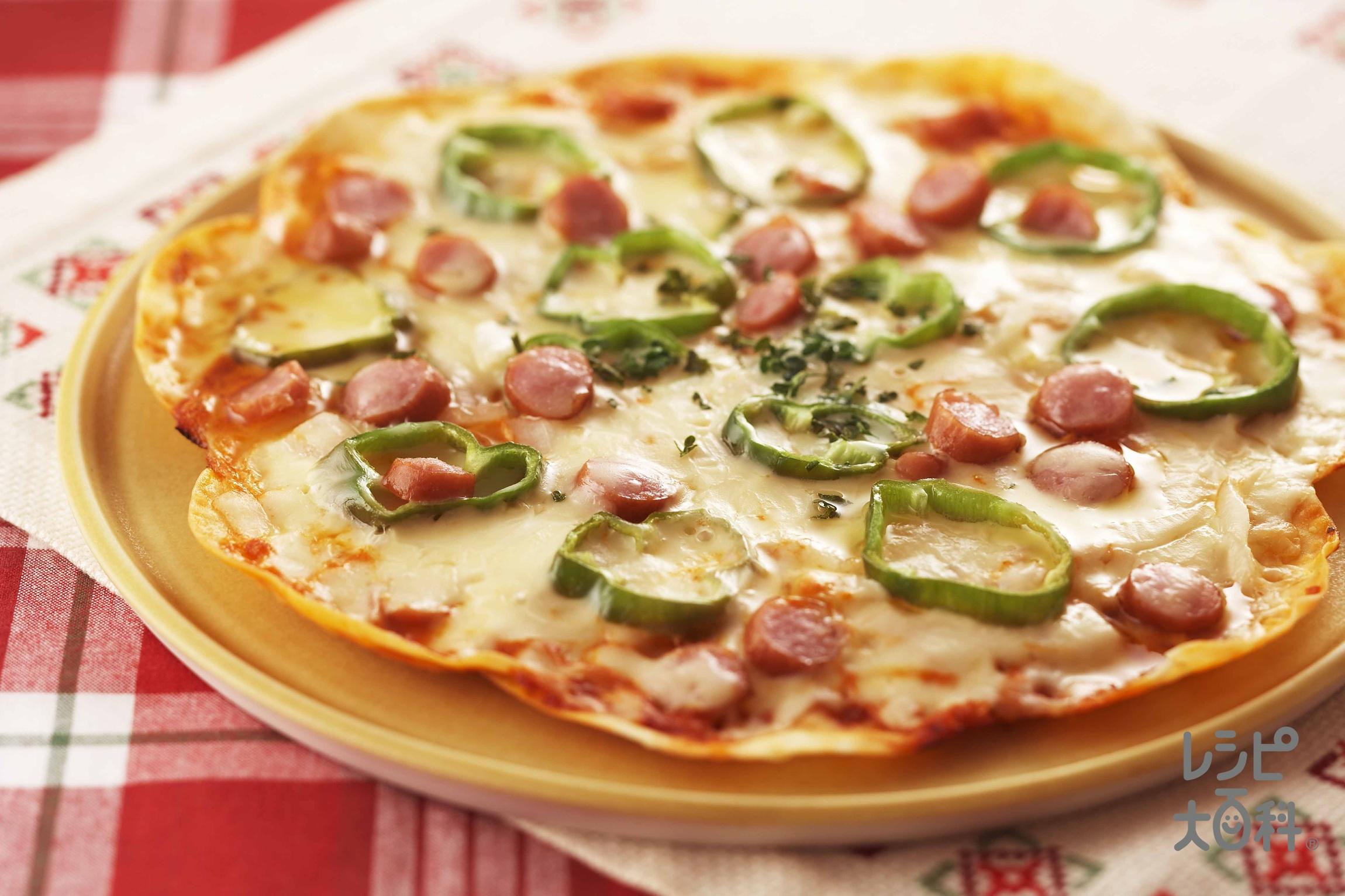 餃子の皮で、なんちゃってピザ