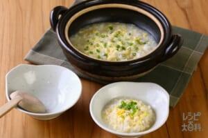 鍋の〆 鶏だし雑炊