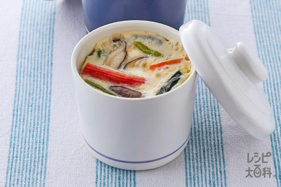 魚介だし香る茶碗蒸し(卵+しいたけを使ったレシピ)