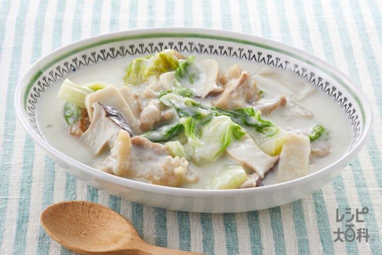 鶏肉と白菜のミルク煮