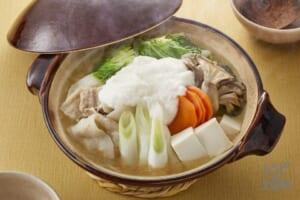 豚バラと白菜のとろろ鍋