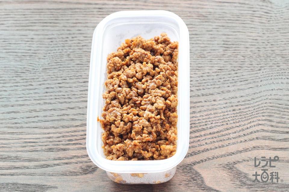 炒めひき肉 ~甘から味噌風味~(豚ひき肉+「Cook Doきょうの大皿」肉みそキャベツ用を使ったレシピ)