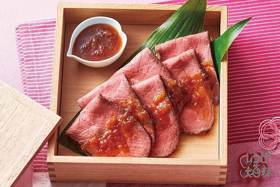 ローストビーフ~ヘルシー晩ごはん~(牛ももかたまり肉を使ったレシピ)