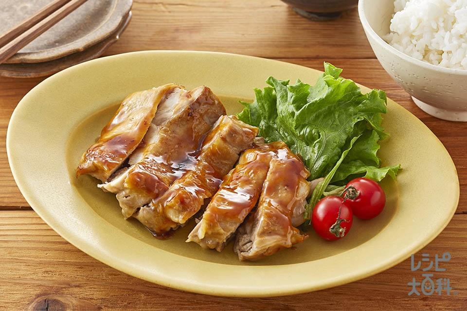 しょうゆマヨの照り焼きチキン(鶏もも肉+A「ピュアセレクト マヨネーズ」を使ったレシピ)