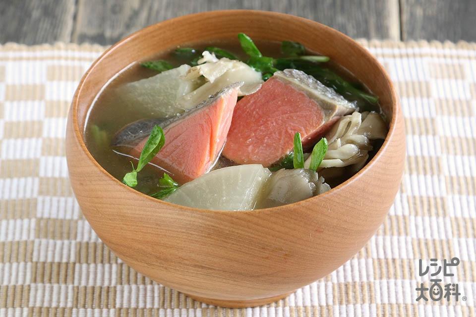 絶品!鮭とまいたけのみそ汁(さけ+まいたけを使ったレシピ)