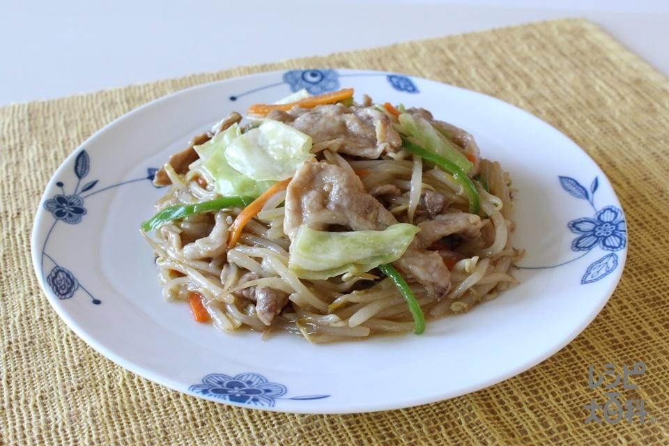 Wだし!生姜香る彩り野菜炒め(豚こま切れ肉+袋入りカット野菜(五目野菜炒めミックス)を使ったレシピ)