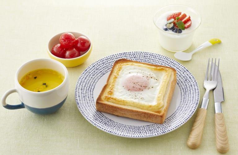 受験生応援レシピ!【朝食】ぶっかけマヨ目玉焼きトースト献立